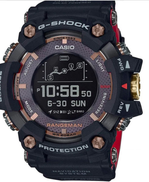 A Casio G-Shock Frogman watch.